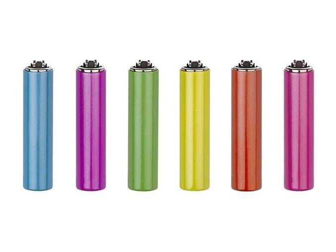 Plynový zapalovač CLIPPER metal cover happy colors