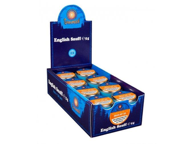 24x English Snuff Irish No.22 5g + 5ks zdarma