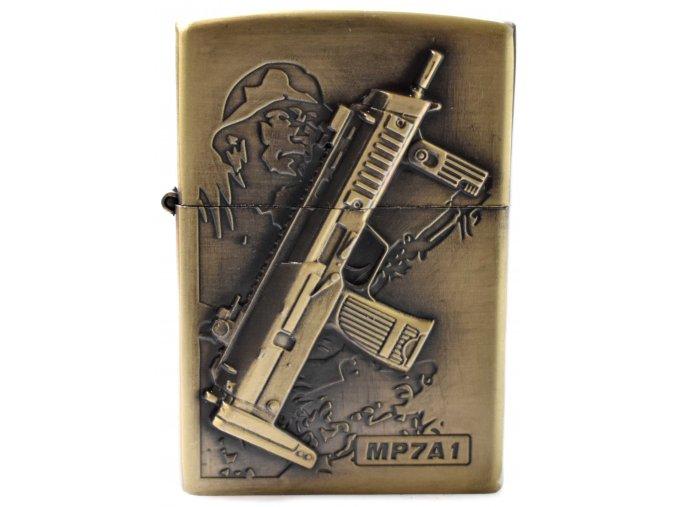 Benzínový zapalovač TOMMY GUN 01