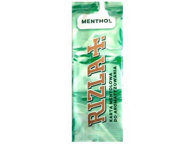 karta do aromatyzowania rizla menthol