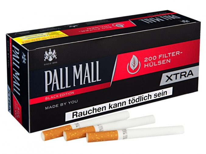 Dutinky EXTRA PALL MALL BLACK edition 200 - filtr 24mm!
