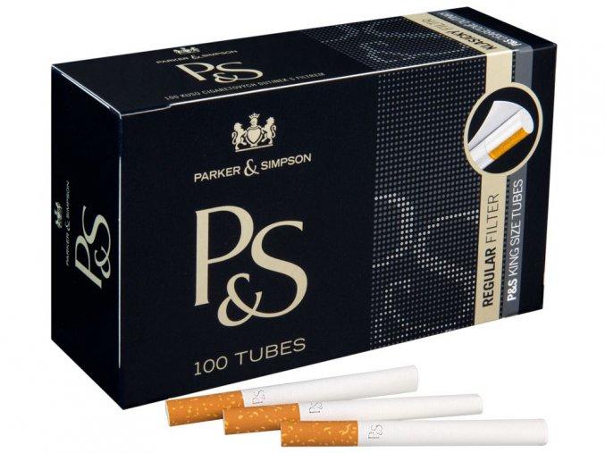 Cigaretové dutinky P&S Black 100ks