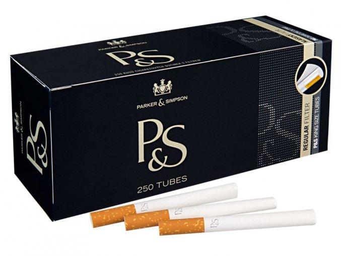 Cigaretové dutinky P&S black 250ks