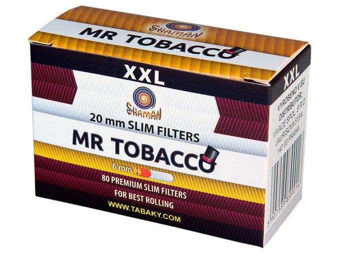Filtry XXL Slim MR TOBACCO 80ks (dodavatel pro CAMEL)