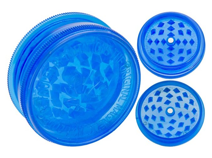 Magnetická 2-dílná plastová drtička BUDDIES BLUE