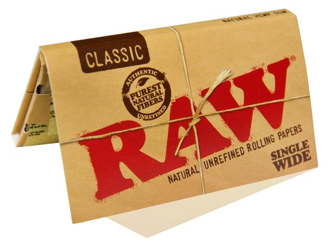 Papírky RAW Classic Single Wide Double