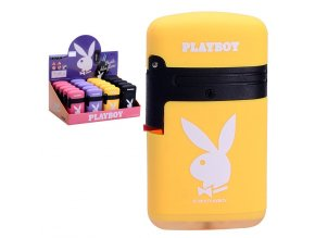 Zapalovač PLAYBOY Double Flame YELLOW