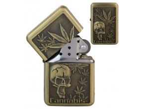 Benzínový zapalovač CANNABIS 01