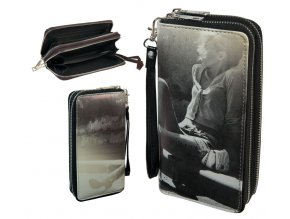 wallet retro double zipper 013