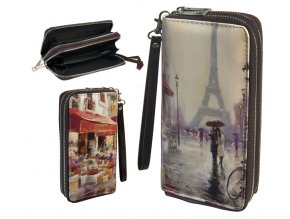 wallet retro double zipper 033