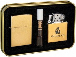 Dárkový plazmový zapalovač v plechové krabičce - GOLD SET 02