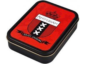 Hranatá krabička na tabák AMSTERDAM 02 velká