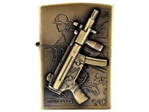 Benzínový zapalovač TOMMY GUN 02