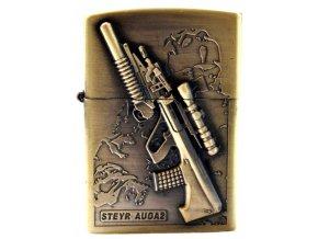 Benzínový zapalovač TOMMY GUN 03