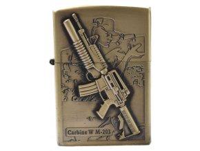 Benzínový zapalovač TOMMY GUN 04