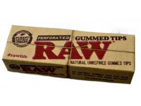 Filtry RAW Gummed Tips Natural
