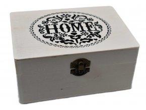 Sada dárkových dřevěných krabiček HOME 3 ks