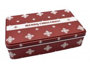 Plechová dárková krabička MERRY CHRISTMAS
