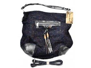 Větší dámská pletená kabela MARIA.MARNI blue