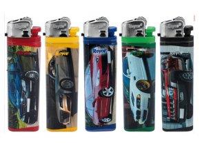 Jednorázový zapalovač ROYCE Cars 5 ks