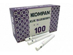 Práskací dutinky KOMPAN KLIK BLUEBERRY 100 - filtr 20mm!