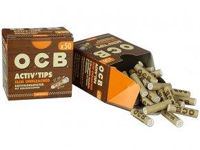 OCB uhlíkové filtry nebělené SLIM 50ks
