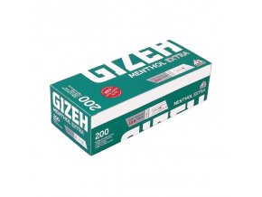 gizeh menthol extra 200 filtertubes extra long filter 1 unit 1 box