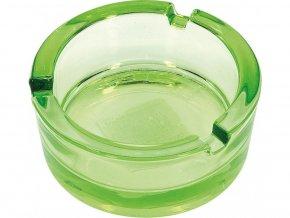 13727 12877 skleneny popelnik 8 5cm zeleny