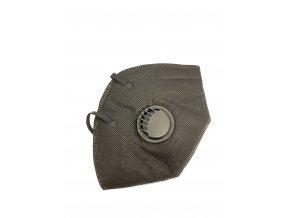 Respirační rouška s filtrem KN95 černá