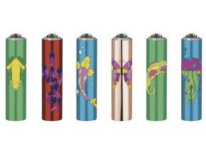 Plynový zapalovač CLIPPER METAL COVER Shiny Animals
