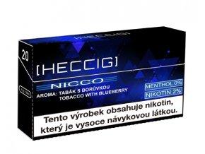 hecmaniacz heccig nicco napln do pristroje heat not burn boruvka krabicka