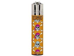 Zapalovač CLIPPER SKULL 02
