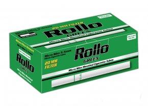 5x MICRO SLIM mentolové dutinky ROLLO GREEN 200ks