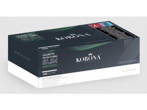 5x SLIM bílé dutinky Menthol Korona 250 - filtr 18mm