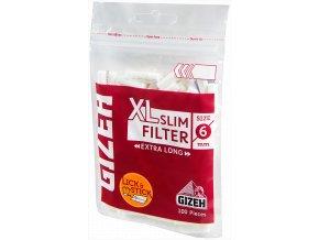 Dlouhé slim filtry GIZEH XL 100ks
