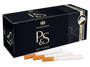 Cigaretové dutinky P&S black 250ks
