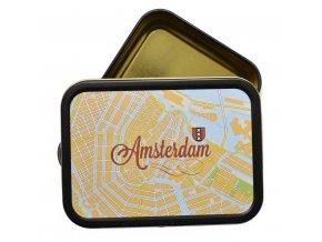 Hranatá krabička na tabák AMSTERDAM velká