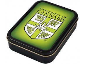 Hranatá krabička na tabák CANNABIS velká