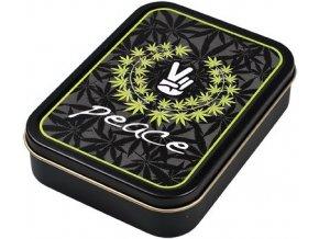 Hranatá krabička na tabák PEACE 01 velká