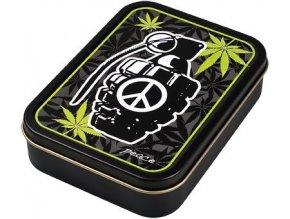 Hranatá krabička na tabák PEACE 02 velká