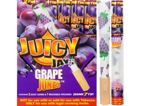 Konopné dutinky na jointy Juicy Jay´s Grape 1 1 / 4 2ks