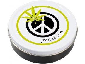 Kulatá krabička na tabák PEACE 01