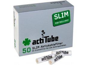 ACTITUBE uhlíkové filtry SLIM 50ks