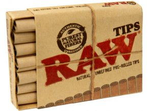 Trhací filtry RAW Prerolled Tips Natural