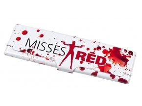 Pouzdro na cigaretové papírky MISSES RED + papírky zdarma