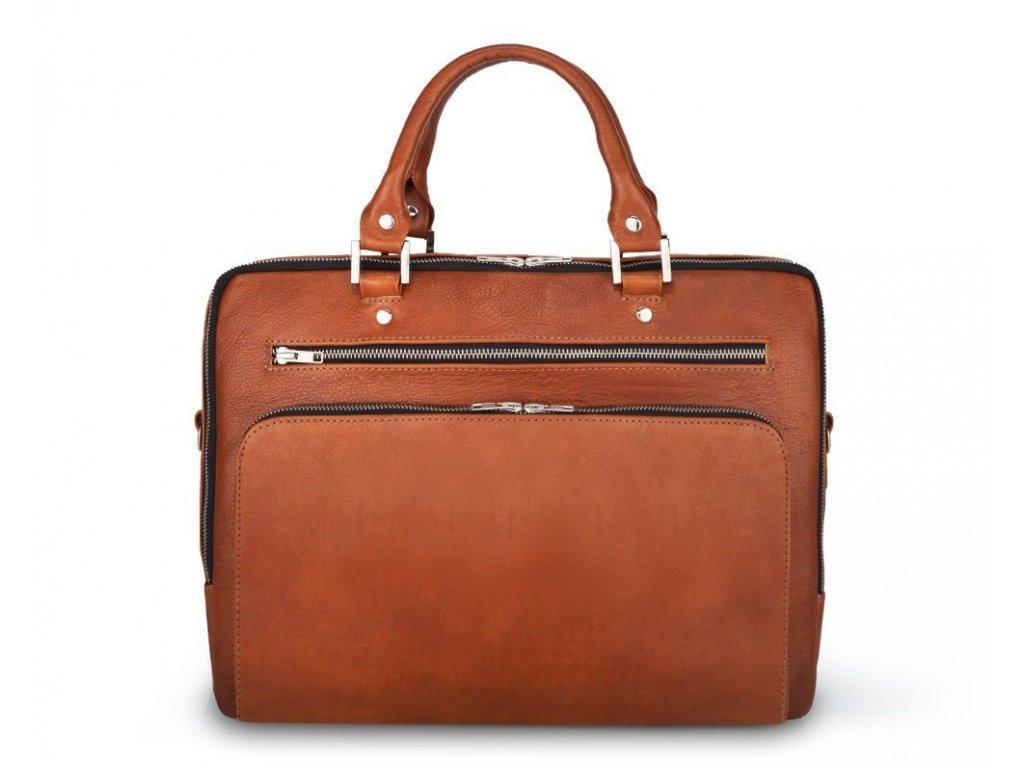 eng pl Genuine leather laptop bag Solier SL24 Shannon brazowy vintage 22281 1