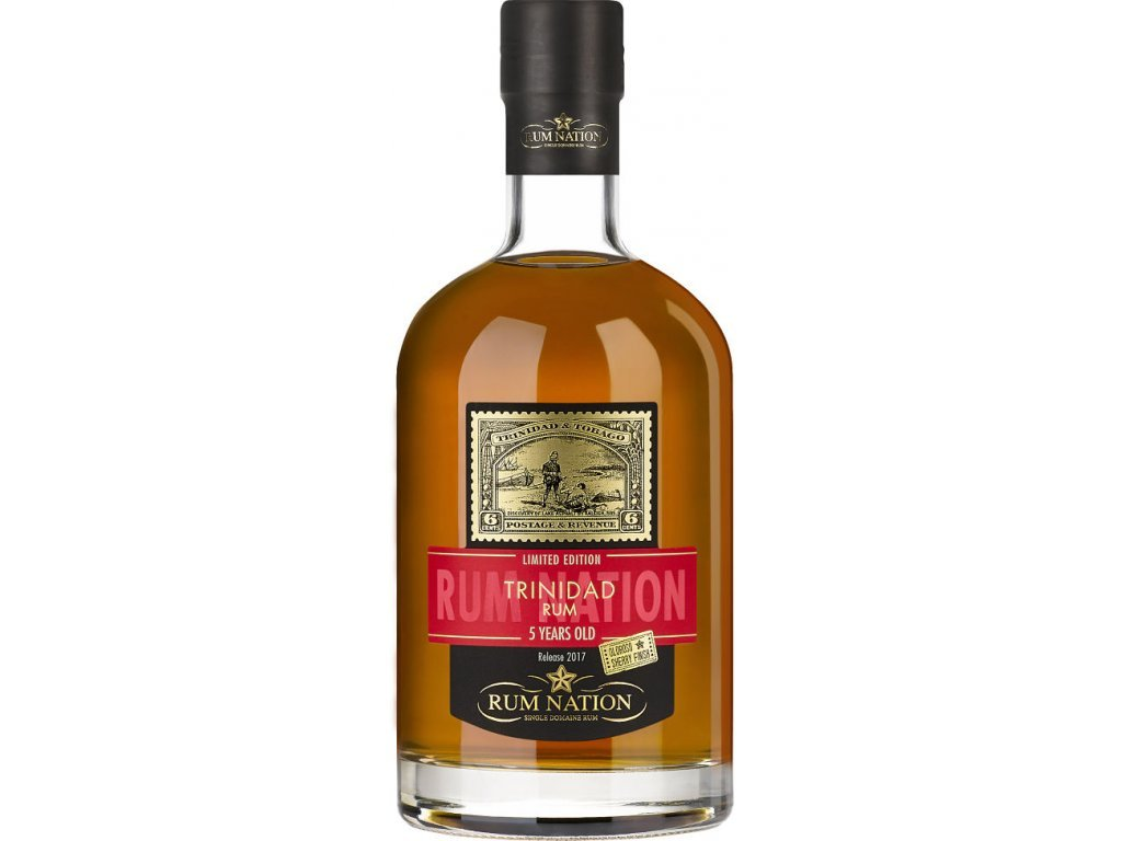 Rum Nation Trinidad 5 Y.O. Sherry Finish, 46%, 0.7l