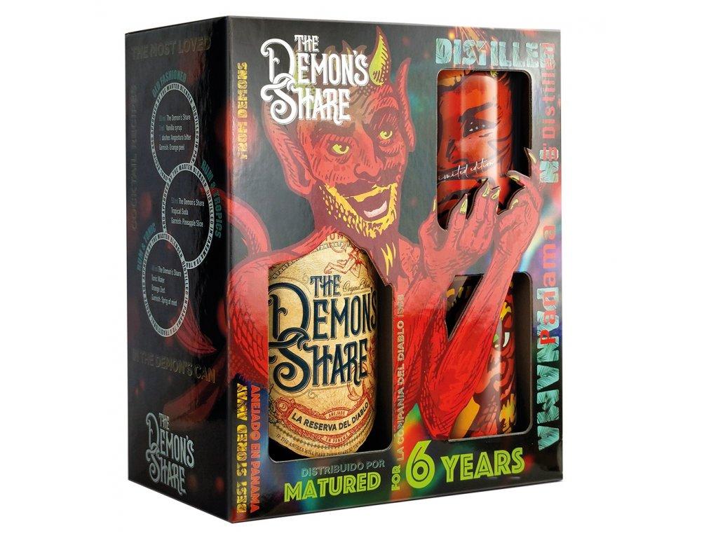 The Demon's Share Rum El Diablo Set, 40 %, 0.7l