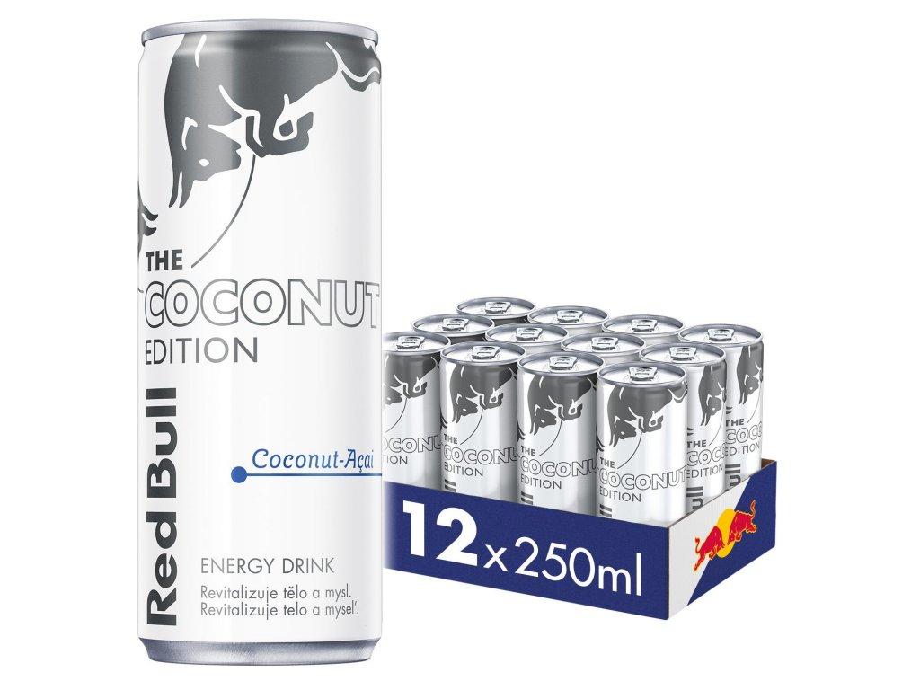 Red Bull Coconut edition energetický nápoj 12x250 ml