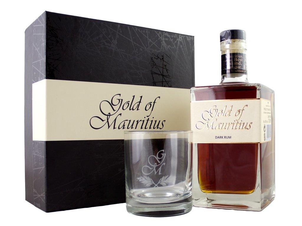 Gold of Mauritius Dark + pohár